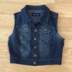 Denim vest by new look,crop style size small